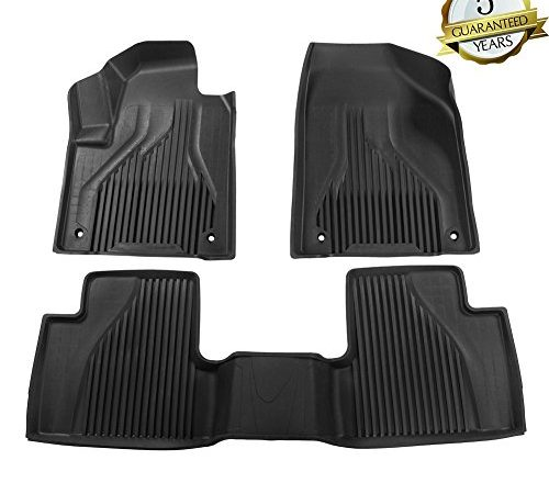 Kiwi Master Floor Mats Compatible For 2017 2018 Jeep Cherokee Not Grand All Weather Rubber Liner Slush Mat Set